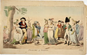 Isaac Cruikshank, Frailties of Fashion (1793) ©Trustees of the British Museum