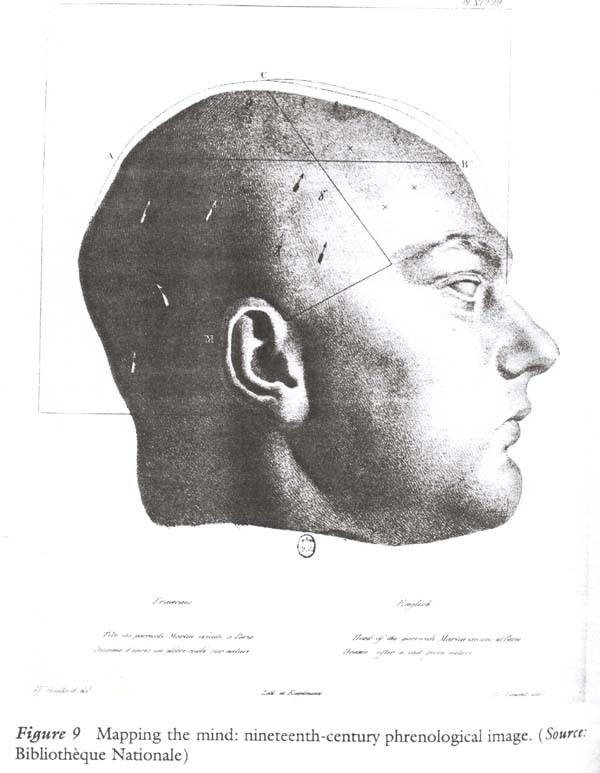 An image of the head of a French parricide, Martin.
