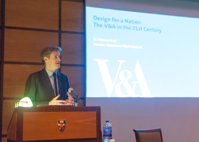 Tristram Hunt lectures at Senate House on Design for a Nation