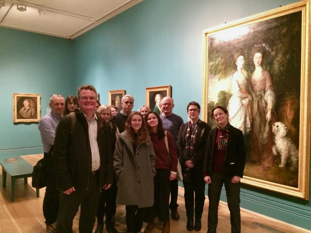 The Museum Cultures group at Gainsborough's Family Album with Dr. Lucy Peltz