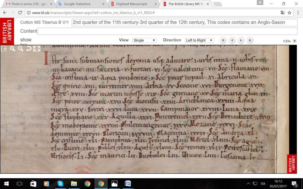 Image 18. British Library MS Cotton Tiberius B V/1, f. 23v