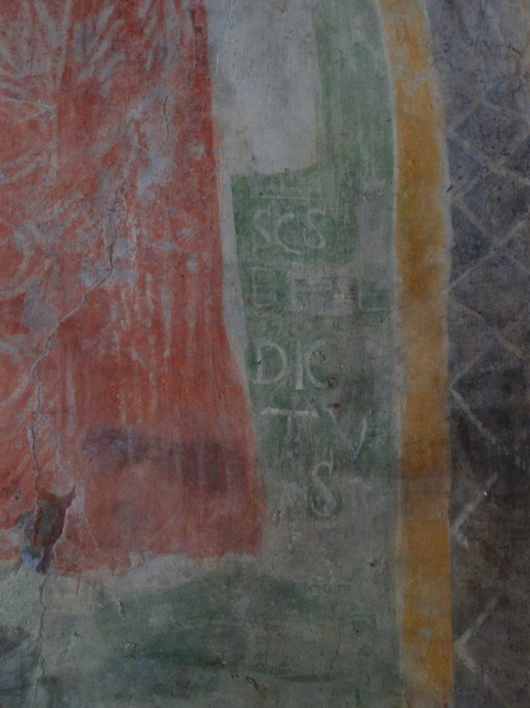 Image 20. Santa Maria di Foro Cassio, left absidiole, particular © 2015 Carlo Tedeschi]