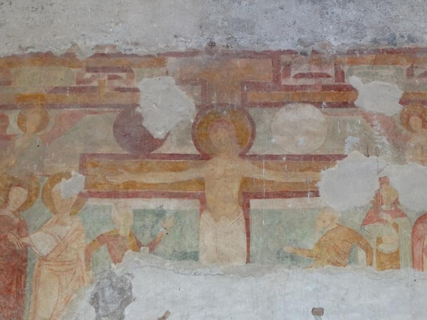 Image 24. Santa Maria di Foro Cassio, counterfacade, particular. ©2015 Carlo Tedeschi