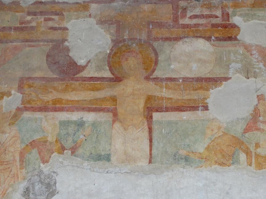 Image 23. Santa Maria di Foro Cassio, counterfacade, particular. ©2015 Carlo Tedeschi