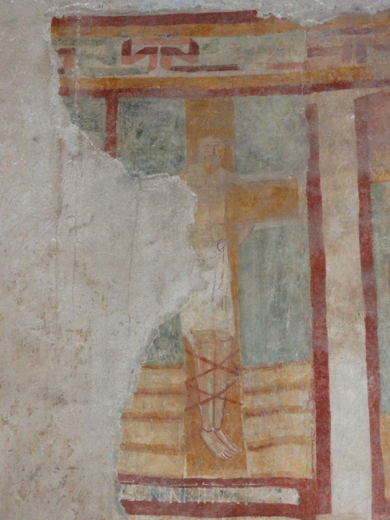 Image 25. Santa Maria di Foro Cassio, counterfacade, particular. ©2015 Carlo Tedeschi