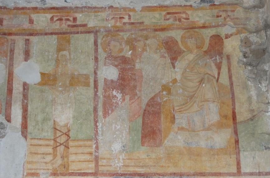 Image 27. Santa Maria di Foro Cassio, counterfacade, particular. ©2015 Carlo Tedeschi