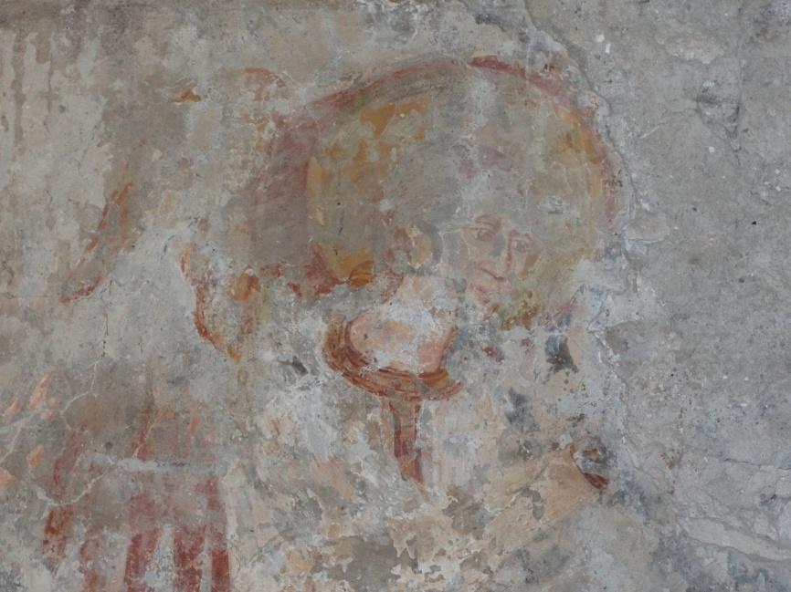 Image 31. Santa Maria di Foro Cassio, left wall, particular. ©2015 Carlo Tedeschi