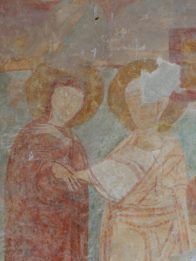 Image 26. Santa Maria di Foro Cassio, counterfacade, particular. ©2015 Carlo Tedeschi]
