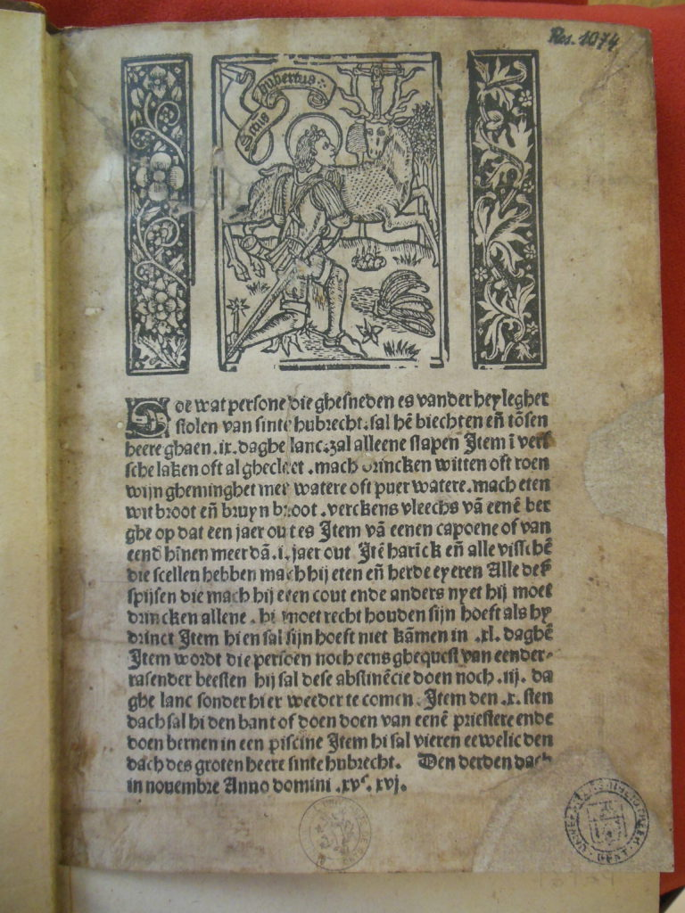 Figure 2. Ghent, Universiteitsbibliotheek, Res. 1074 [Source: Kathryn Rudy, 2017]