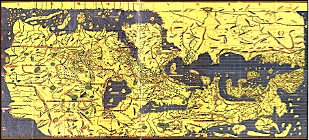 The Tabula Rogeriana, drawn by al-Idrisi for Roger II of Sicily in 1154. [Source: Wikimedia Commons]