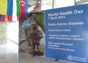 WHO headquarters on World Health Day