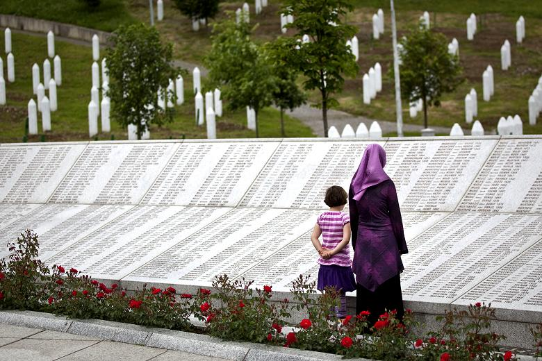 The memorial in Srebrenica (source: thetimes.co.uk)