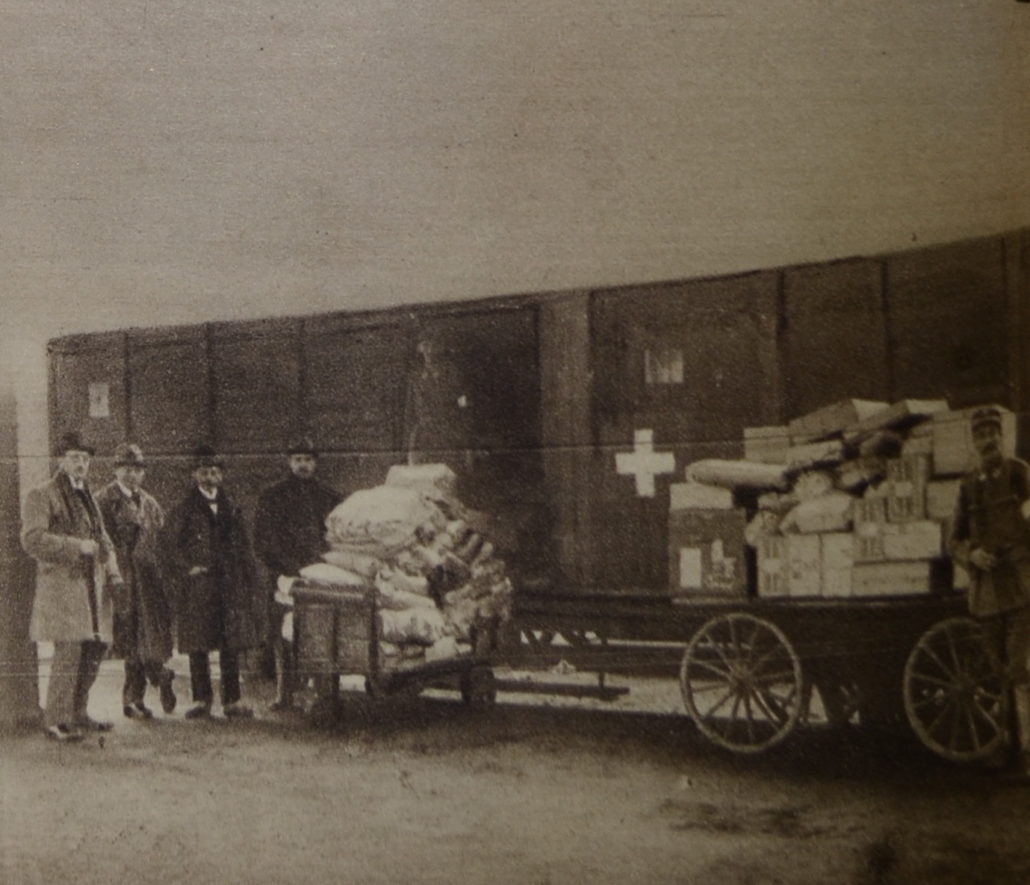 """Red Cross Relief Donation Arriving to Budapest Train Stations,"" 1919.[iii]"