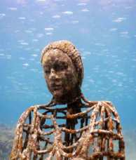Underwater Sculpture Park, Moilinere Bay, Grenada